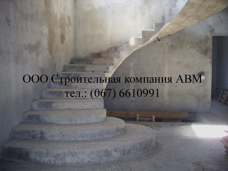 Монолитные лестницы киев