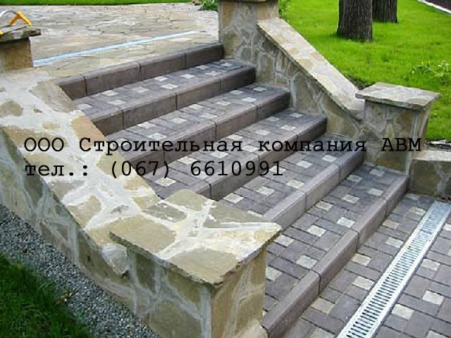 Строительство ступеней из брусчатки